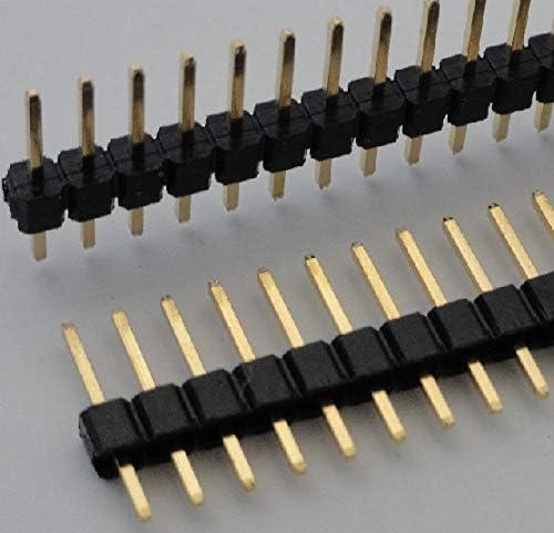 ピンヘッダ 1×12=12P 基板間11mm 金メッキ 2.54mmピッチ 2個入<con-027>