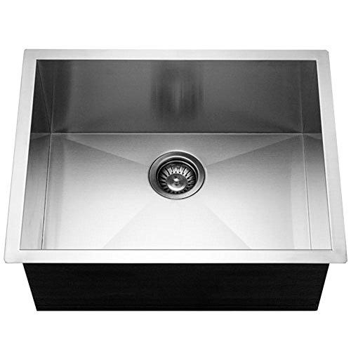 Houzer CTS-2300 Contempo Series Undermount Stainless Steel Single Bowl Kitchen Sink ()