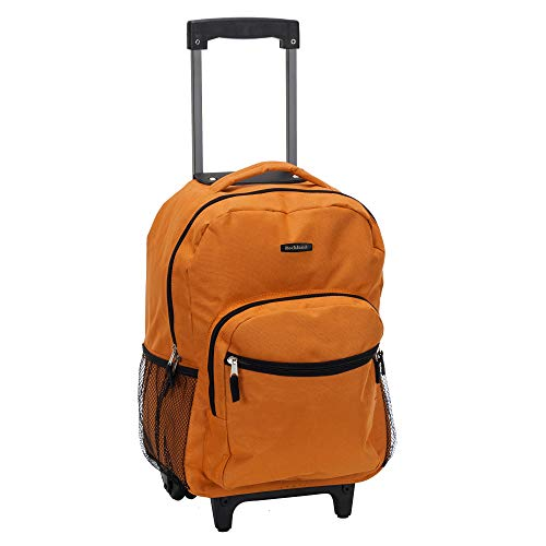Rockland Luggage 17 Inch Rolling Backpack, Orange, One Size ()