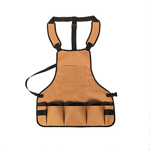 Sgarden Garden Tool Apron with Multifunction Pockets Waterproof Adjustable Size,Fits Men Women by Sgarden