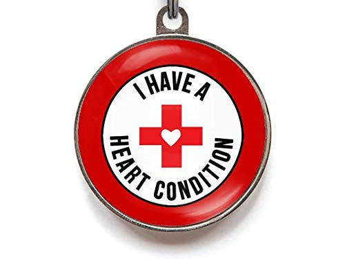 Wag-A-Tude Tags I Have A Heart Condition Pet Tag - Medical Alert Pet Tag (Small) ()