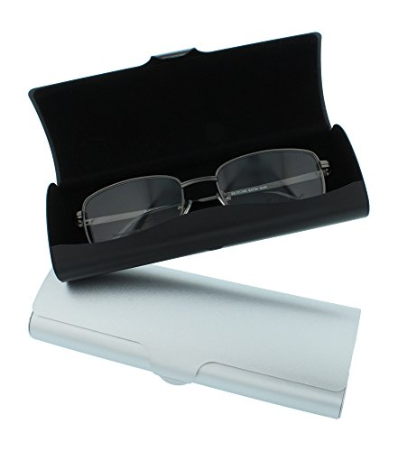 Aluminum Eyeglass Case for Small To Medium Frames In Black Or Silver