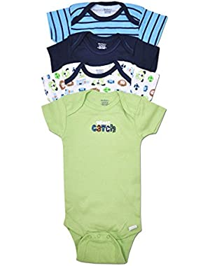 Gerber 4 Pack Baby Boy Puppy Dog and Sports Onesies