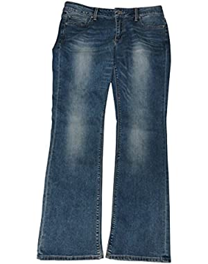 Women's Lolita Boot Blue Denim Jeans, Size 10/30
