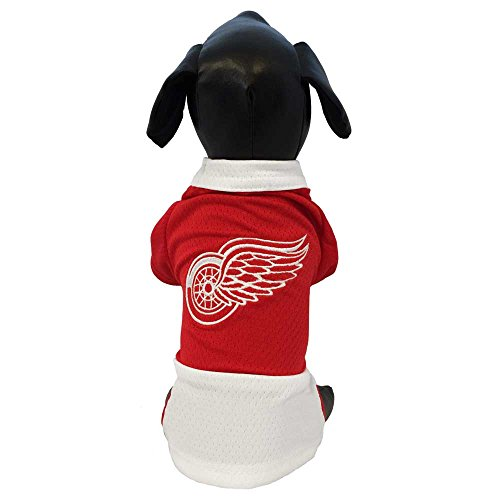 NHL Detroit Red Wings Athletic Mesh Dog Jersey, X-Small, Red