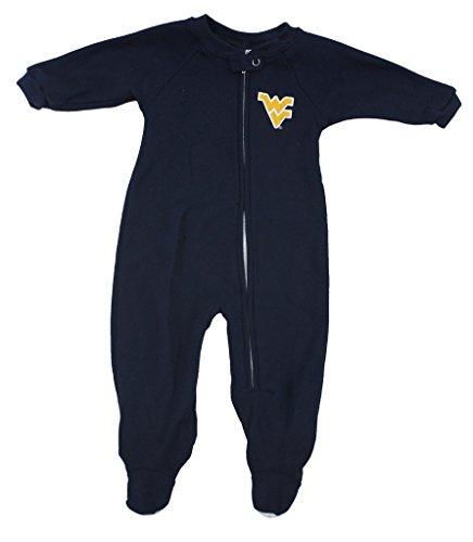 Genuine Stuff Boys Infant West Virginia Mountaineers Embroidered Sleeper Footie Pajamas