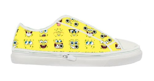 SpongeBob SquarePants Logo Lady's Fashion Sneakers with Special Design for Females