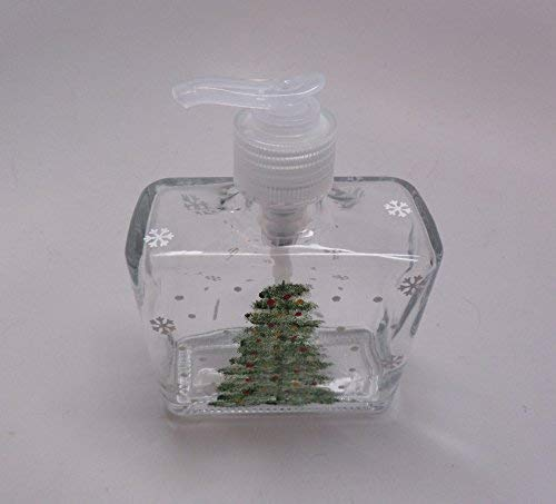 Hand painted Christmas Tree Soap Dispenser