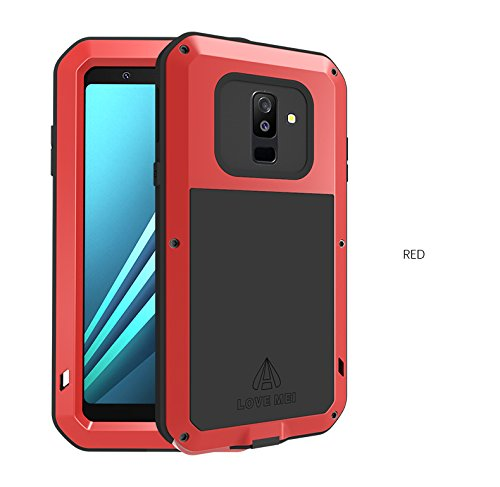 sale retailer 1814b 229e1 Galaxy A6 Plus Case,HuiFlying Waterproof Shockproof Dust Heavy Duty  Aluminum Alloy Metal Bumper Silicone Fully-Body Hybrid Military Case for  Samsung ...