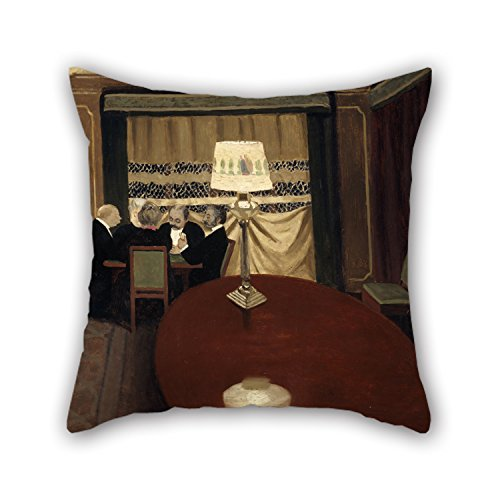 [Slimmingpiggy Pillow Cases Of Oil Painting Félix Vallotton - The Poker Game,for Kids Room,indoor,lover,divan,bedding,car Seat 16 X 16 Inches / 40 By 40 Cm(both] (Nightwing Costume Amazon)