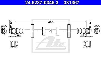 1 Bremsschlauch ATE 24.5237-0345.3 passend für VAG