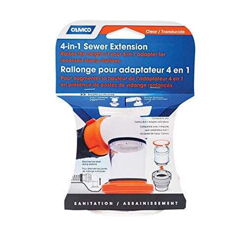 Camco 39735 Sewer Extension Clear 4 in 1
