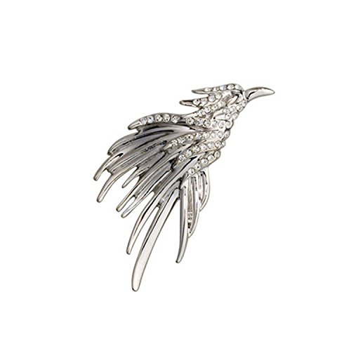Eagle Brooches Suit Lapel Pins Shirt Collar Jewelry Rhinestone Animal brooch jewelry Alloy badge broche Fashion CY14 (Onyx Eyes Pin)