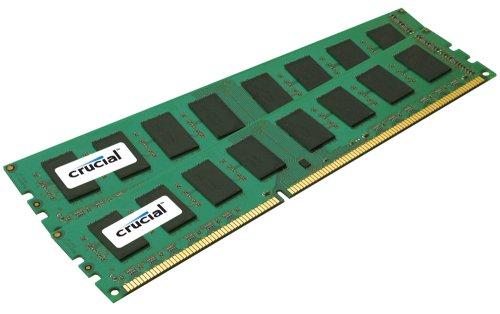 Crucial Technology CT2CP12872BA1339 2 GB (1 GBx2) 240-pin DIMM DDR3 PC3-10600 CL=9 Unbuffered ECC DDR3-1333 1.5V 128Meg x 72 Memory Kit