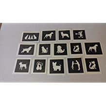 30 x mini cat & dog stencils for etching on glass hobby craft glassware gift present