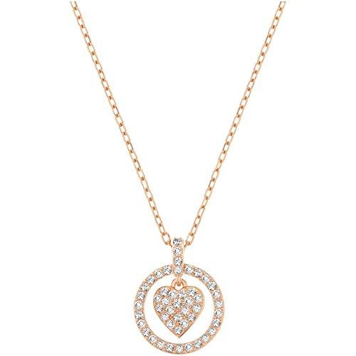Swarovski Crocus Heart Pendant, Rose Gold-Plated