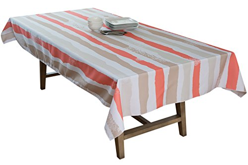 BottleCloth Multi Mod Premium Tablecloth - Superior Quality, Easy Clean, Spill Resistant, and Washable. Made from 100% Recycled Materials. Assorted colors and sizes. (60