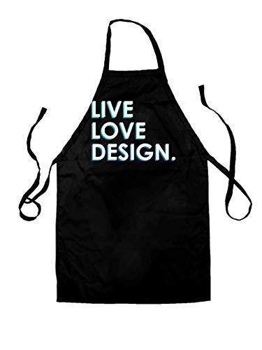 Dressdown Live Love Design - Unisex Adult Apron - Black - One Size by Dressdown (Image #3)