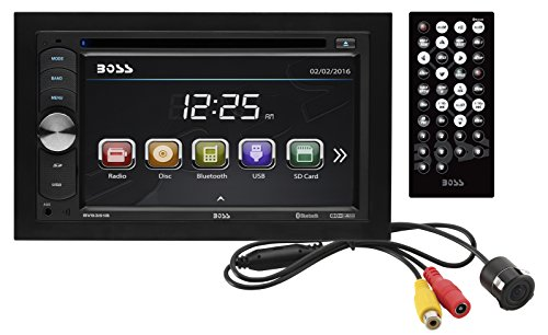 BOSS Audio BVB9351RC Car DVD Player With Backup Rearview Camera – Double Din, Bluetooth Audio and Calling, 6.2 Inch LCD Touchscreen Monitor, MP3/CD/DVD, USB/SD, Aux-in, AM/FM Radio Receiver