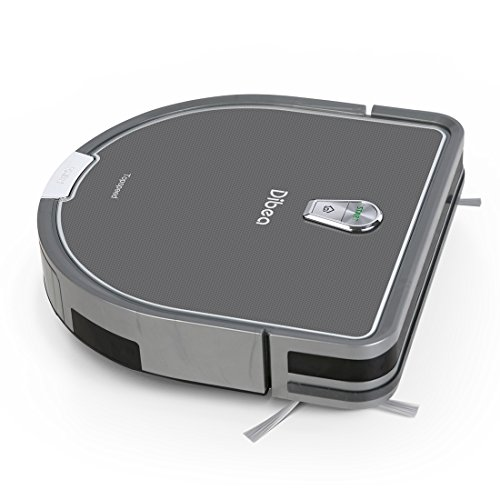Robot Vacuum Cleaner with Mopping Water Tank, 1200pa High Suction, Self-Charging and Drop-Sensing Robotic Vacuum for Pet Hair Hard Floor – Dibea DT966