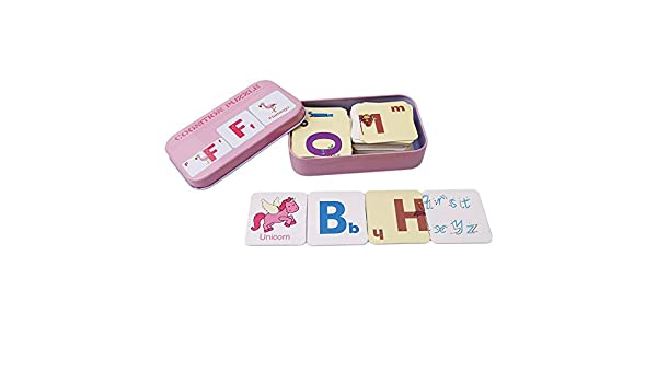 Babys Kids Cognition Puzzle Toys Toddler Iron Box Cards Matching Game Cognitive