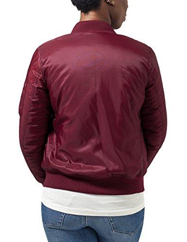Urban Classics Ladies Basic Bomber Jacket, Chaqueta para Mujer Rot (burgundy 606)