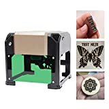 Uttiny Laser Engraver, 3000mW Mini Desktop Laser Printer Used As DIY Logo Laser Engraver, Cutter for Wood, Plastic, Bamboo, Rubber, Leather Off-line Operation for Art Craft Science for Win 7/8/10/XP,