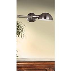 "Frye 5"" Wall Swing Arm Lamp, Antique Nickel"