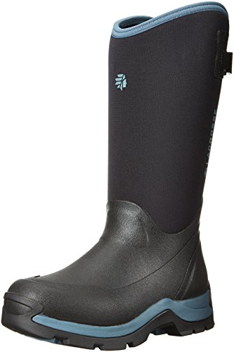 Lacrosse Women's Alpha Thermal Work Boot, Black/Cerulean, 10 M US