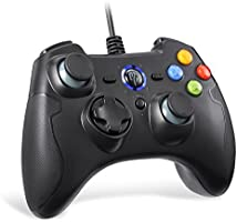 EasySMX Wired Gaming Controller,PC Game Controller Joystick with Dual-Vibration Turbo and Trigger Buttons for...