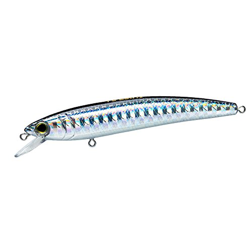 Yo-Zuri F1163-BL Pins Minnow Floating Diver Lure, Silver/Black