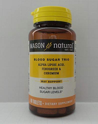 Mason Vitamins Blood Sugar Trio Alpha Lipoic Acid Fenugreek & Chromium Tablets, 60 Count