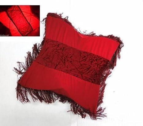 Lampara forma de cojin rojo: Amazon.es: Hogar