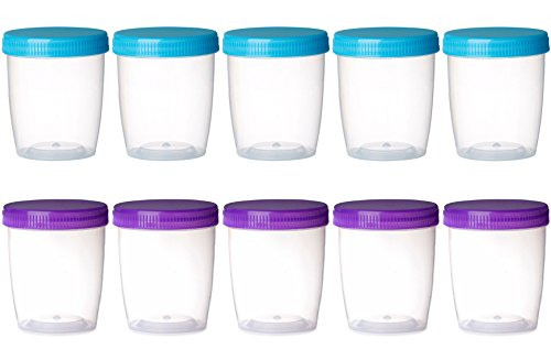 me Containers With Colored lids, Arts And Crafts Storage Jar, Great for Foam Ball, Foam Beads, (2.5 oz) (Containers 12 Ounce Container)