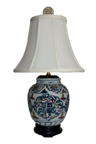Jar Ginger Porcelain Lamp (22