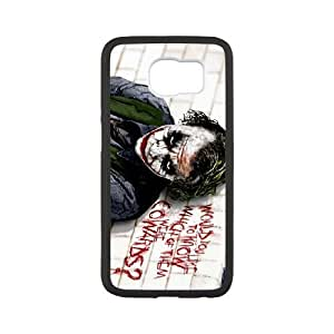 Special Design Cases Samsung Galaxy S6 Cell Phone Case Black The Joker Krpza Durable Rubber Cover