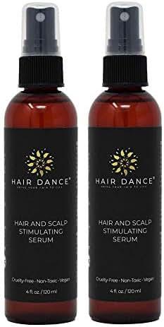 Hair Loss Treatment - Hair Growth Stimulator for Thicker, Faster Hair Growth, Healthy Scalp. Research-Based Caffeine, L-arginine Potent DHT Blocker. (4oz x 2 Treatment)