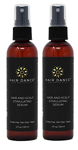 Hair Loss Treatment - Hair Growth Stimulator for Thicker, Faster Hair Growth, Healthy Scalp. Research-Based Caffeine, L-arginine Potent DHT Blocker. (4oz x 2 - Scalp Regrowth Serum