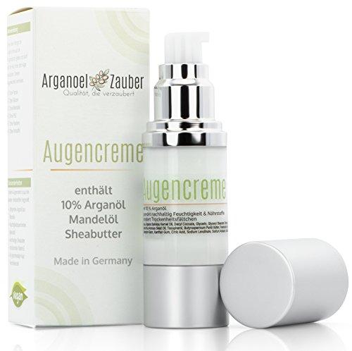 Augencreme mit 10% Arganöl (30ml XL Packung) für jeden Hauttyp | perfekt gegen Augenringe & Trockenheitsfältchen | 100% natürlich, ohne Chemie oder Parfum - Qualität von Arganoel Zauber