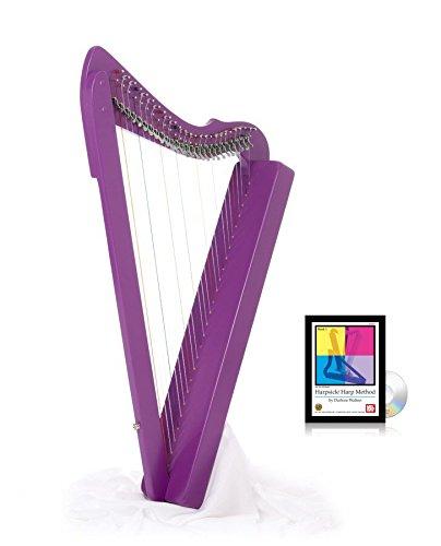 Fullsicle Harp w/ Play Book & DVD - Purple by Harpsicle Harps