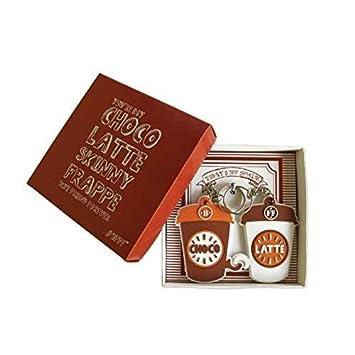 Los mejores amigos de BmyBFF. 2 x Choco - Latte BFF Llaveros en el cuadro de presentación. Perfect Best Friend Gifts / Best Friend Keyring. Gran ...