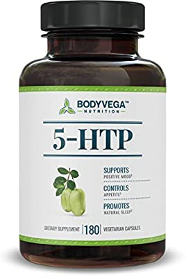 5-HTP by BodyVega, 180 Vegetarian Capsules, 100mg per Pill