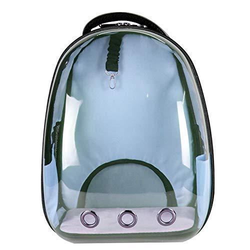 Light bluee 332844cm Light bluee 332844cm Yugoujiu Cat Bag Out Portable Space Capsule Dog Cat Bag Full Transparent Shoulder Bag Large Pet Backpack Cage,Light bluee,33  28  44Cm