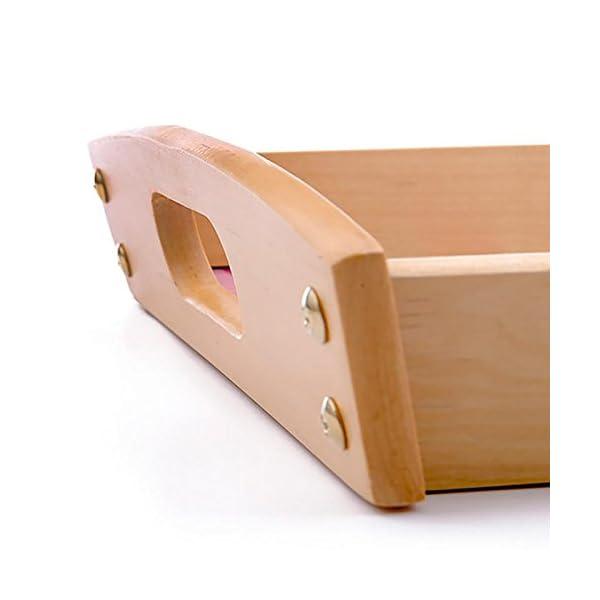 Dkora-T - Bandeja de madera personalizada Pequeña - 34x21cm 4