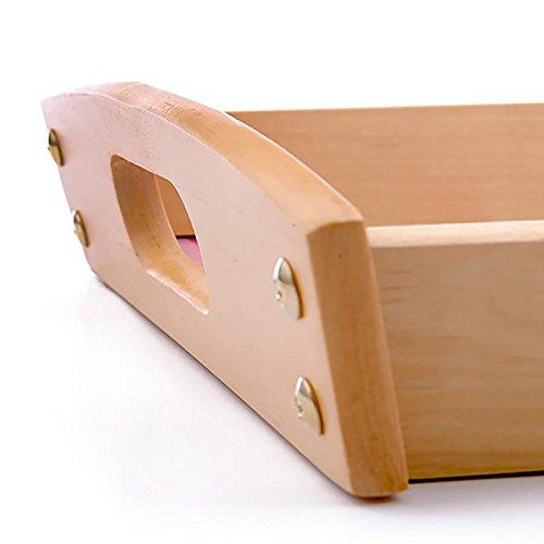 Dkora-T - Bandeja de madera personalizada Pequeña - 34x21cm 3