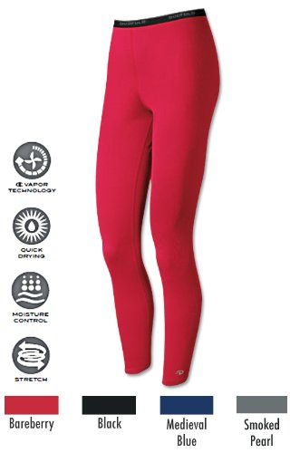Duofold Women's Base Layer Thermal Leggings, Smoke Pearl, Large