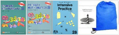 Primary Mathematics 2B Textbook, Workbook & Intensive Practice Homeschool Kit in a Bag