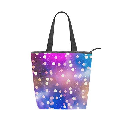 Bag Shine Shoulder Canvas Womens Abstract Tote Beautiful Handbag MyDaily Blurred Defocused AqtaOtw