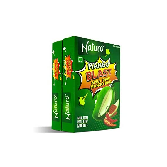 Naturo Spicy Raw Mango Bar 10gms Each- Pack of 20
