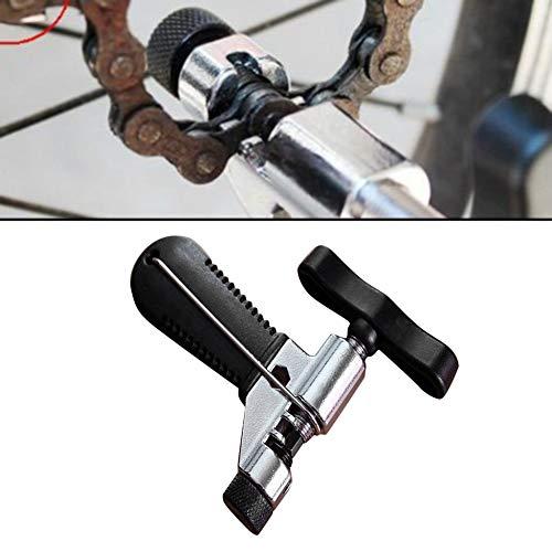 Strumento di riparazione della catena della bicicletta professionale Perno spaccacatena spezzacatena in acciaio inossidabile Rimuovi accessori per bici Taglierina per catena bici Nero e argento